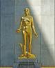 Statua decorativa presso il Golden Hotel, via Arcivescovado 18