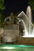 Riprese in notturna, la Fontana Angelica in piazza Solferino