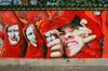 Murales sul muro della Tesoriera